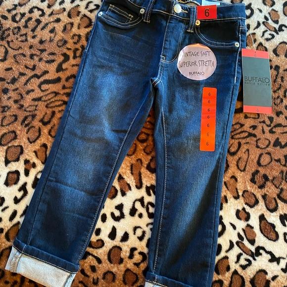 Buffalo Girls Convertible Skinny Mid Rise Comfort Stretch Blue Jeans Pants Sz 12